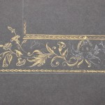 Gold-Gouache-Malerei