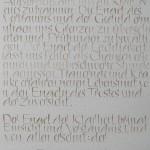 Wernis Nussbaumtintenschrift